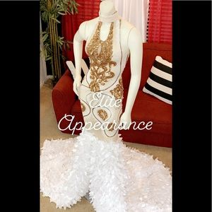 Custom made prom gown